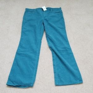 NWT J Crew factory favorite fit teal pants